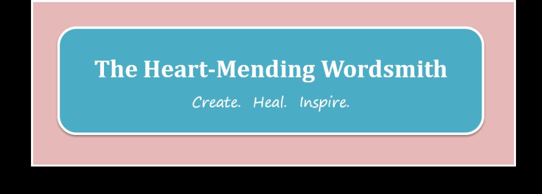 Heart mending wordsmith logo